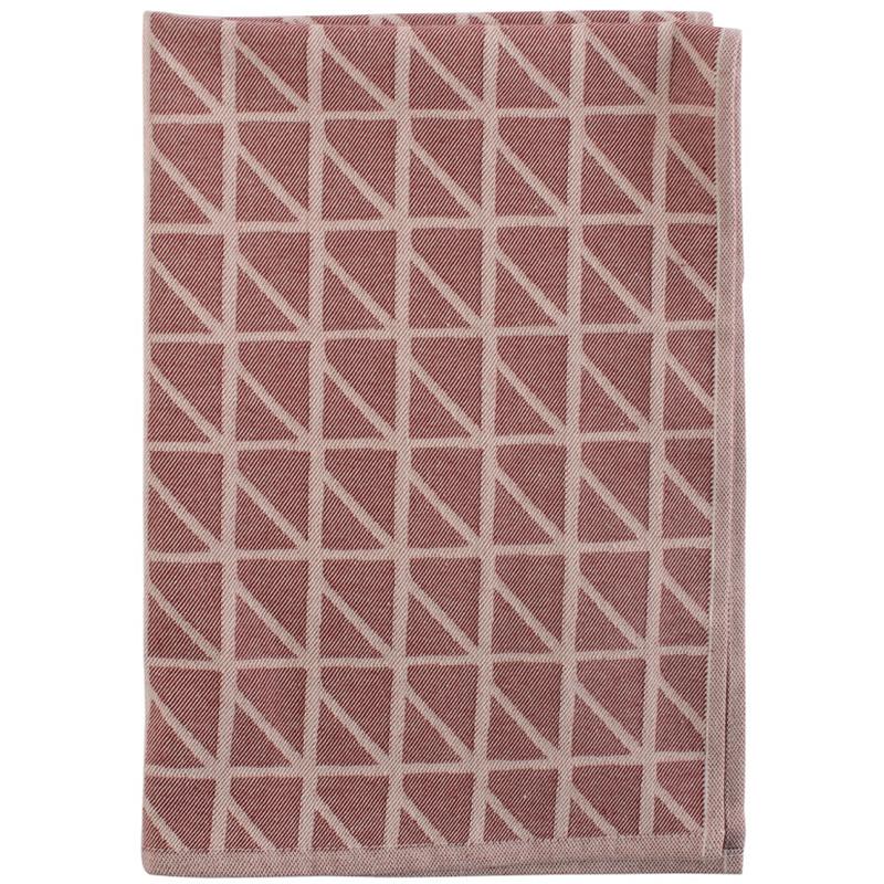 Кухонное полотенце с принтом Twist бордового цвета Cuts&Pieces 45х70 фото
