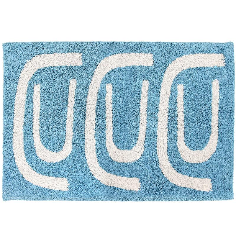 Коврик для ванной Go round голубого цвета Cuts&Pieces 60х90 фото