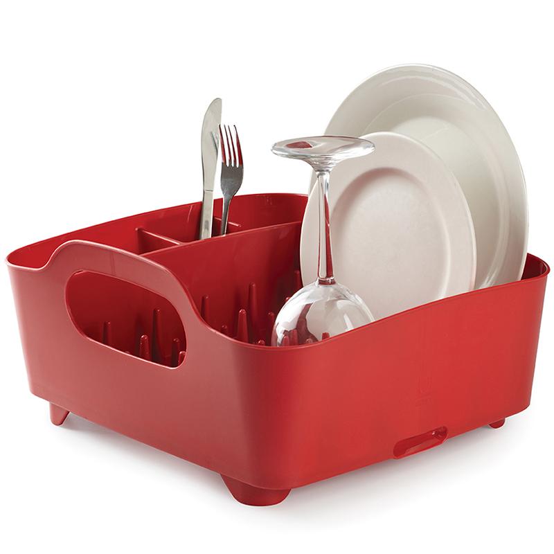 Сушилка для посуды Tub красная