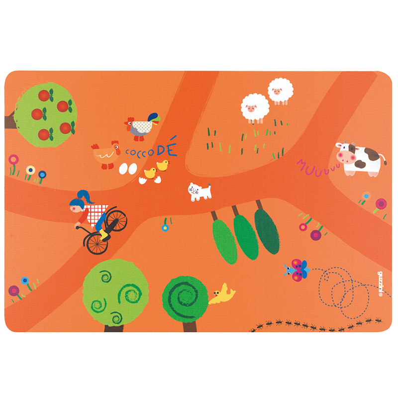 Коврик сервировочный детский On the Road оранжевый фото