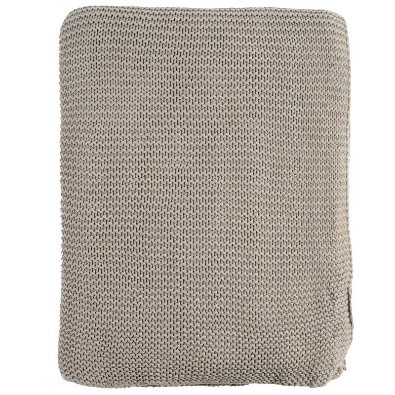 Плед жемчужной вязки серого цвета Essential 220х180 фото