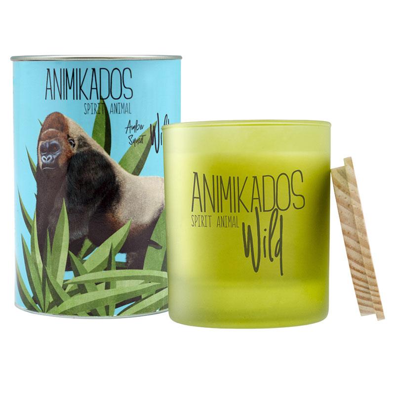 Свеча ароматическая Gorilla - амбровый Wild 40 ч фото