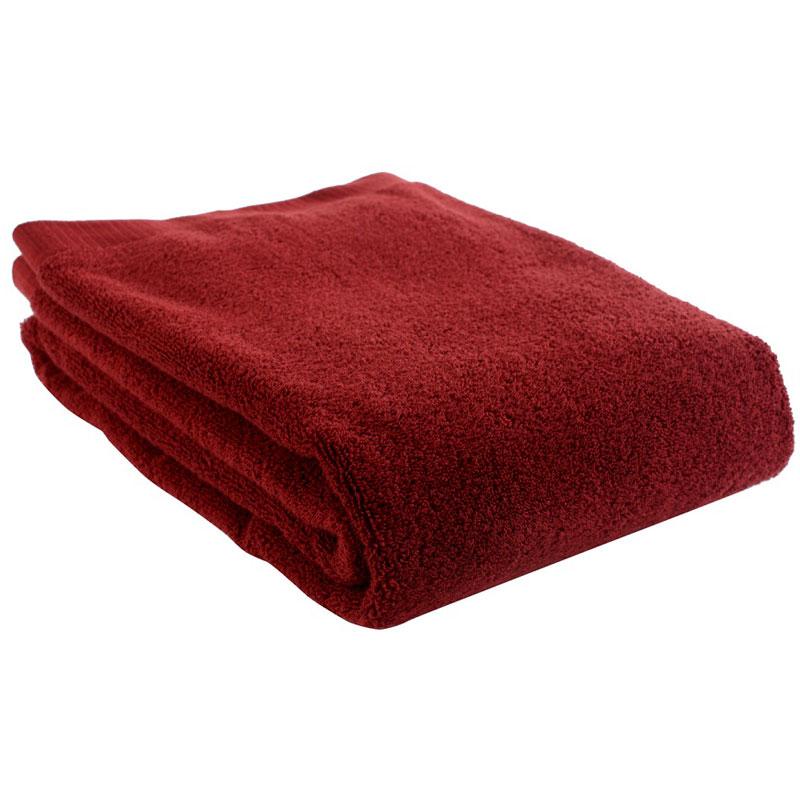 Полотенце банное бордового цвета Essential 90х150 фото