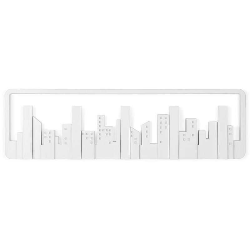 Вешалка настенная Skyline белая фото