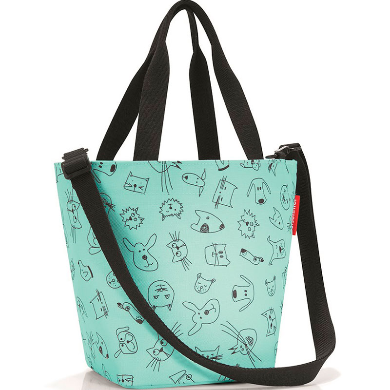 Сумка детская Shopper XS cats and dogs mint фото