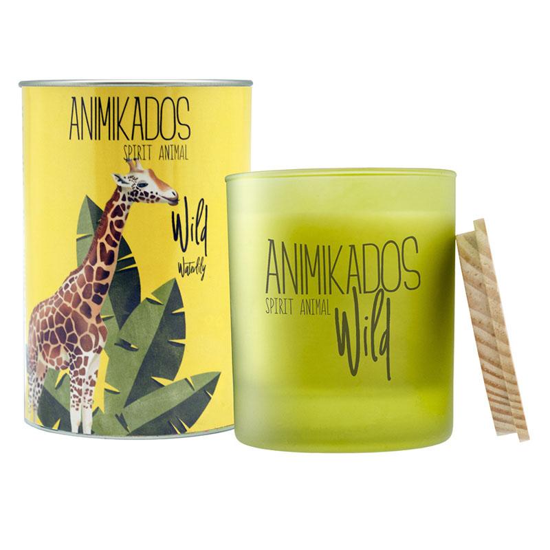 Свеча ароматическая Giraffe - водная лилия Wild 40 ч фото
