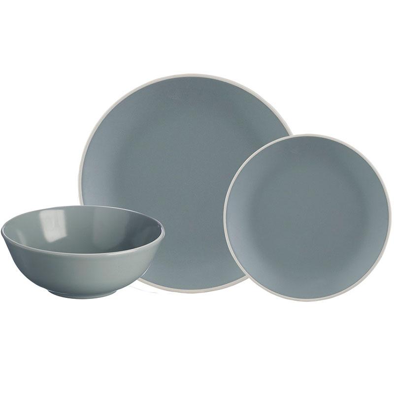 Набор обеденной посуды Classic 12 предметов серый фото