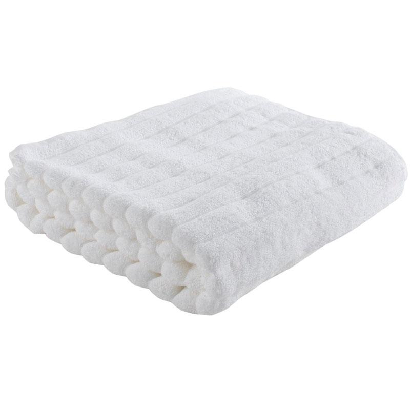 Полотенце банное Waves белого цвета Essential 70х140 фото
