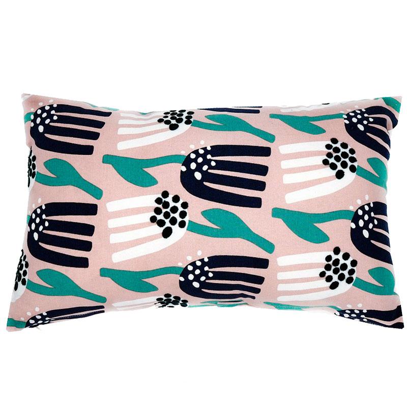 Чехол для подушки цвета пыльной розы с графичным принтом Lazy flower Cuts&Pieces 30х50 фото