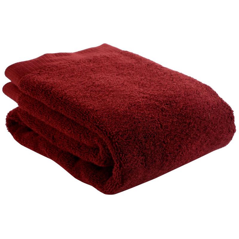 Полотенце для рук бордового цвета Essential 50х90 фото