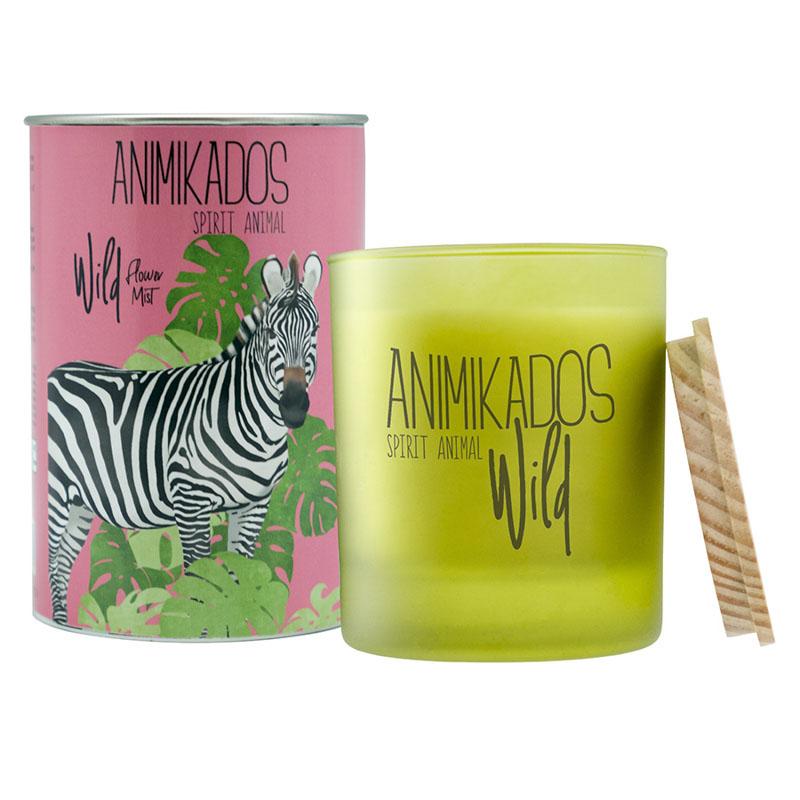 Свеча ароматическая Zebra - цветочный Wild 40 ч фото