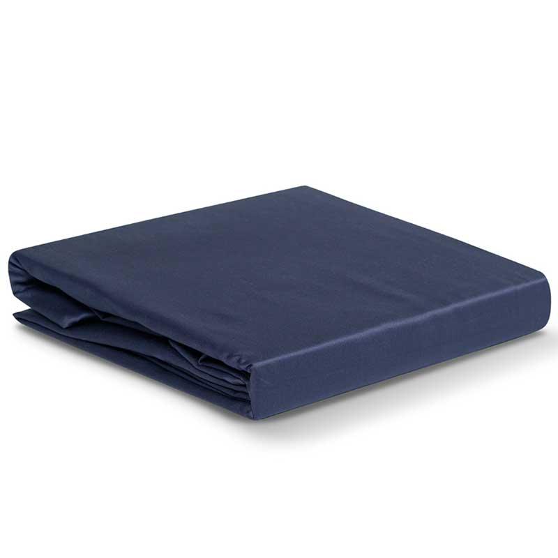 Простыня 1,5-спальная Tkano Essential 180x270см, цвет синий фото