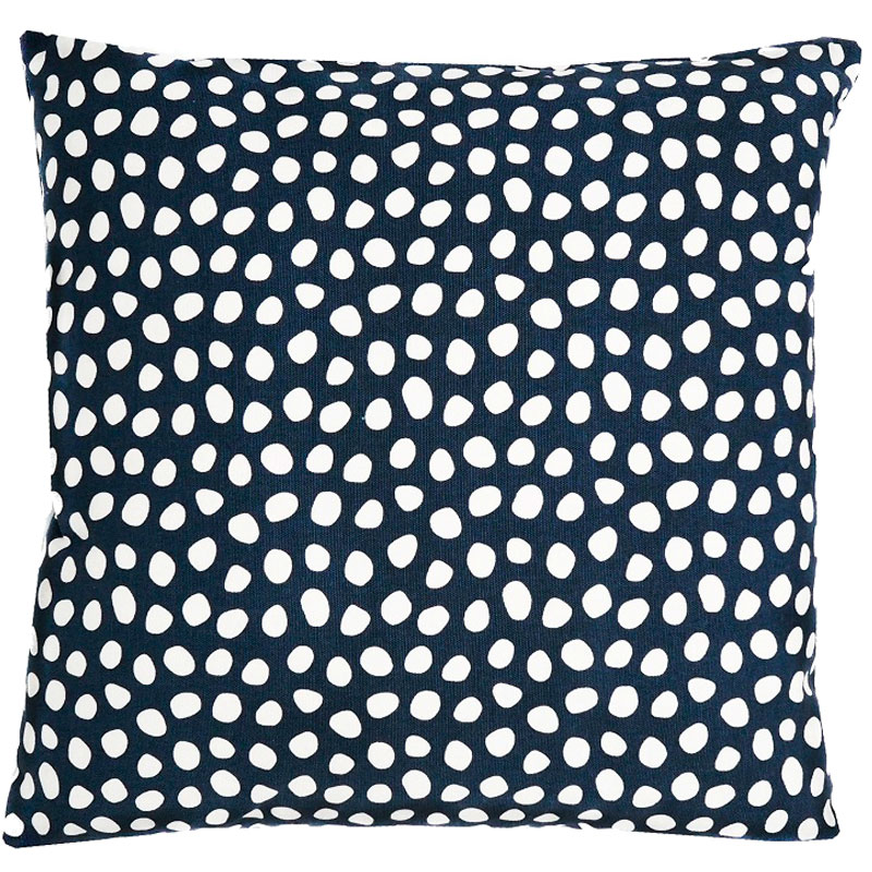 Чехол для подушки из хлопка с принтом Funky dots, темно-серый Cuts&Pieces 45х45 фото