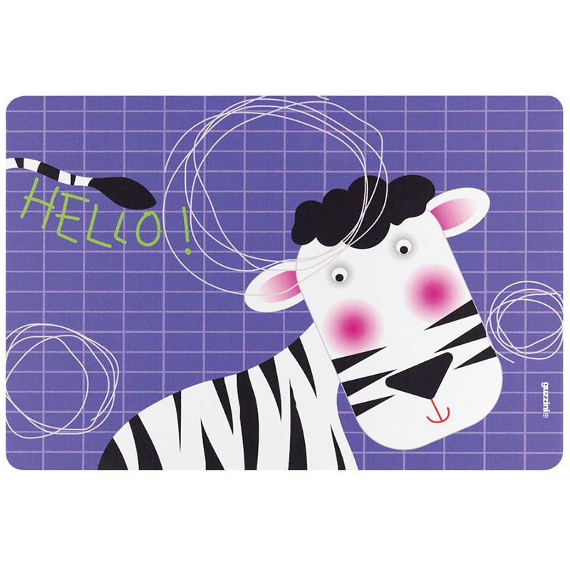 Коврик сервировочный детский Hello зебра фото