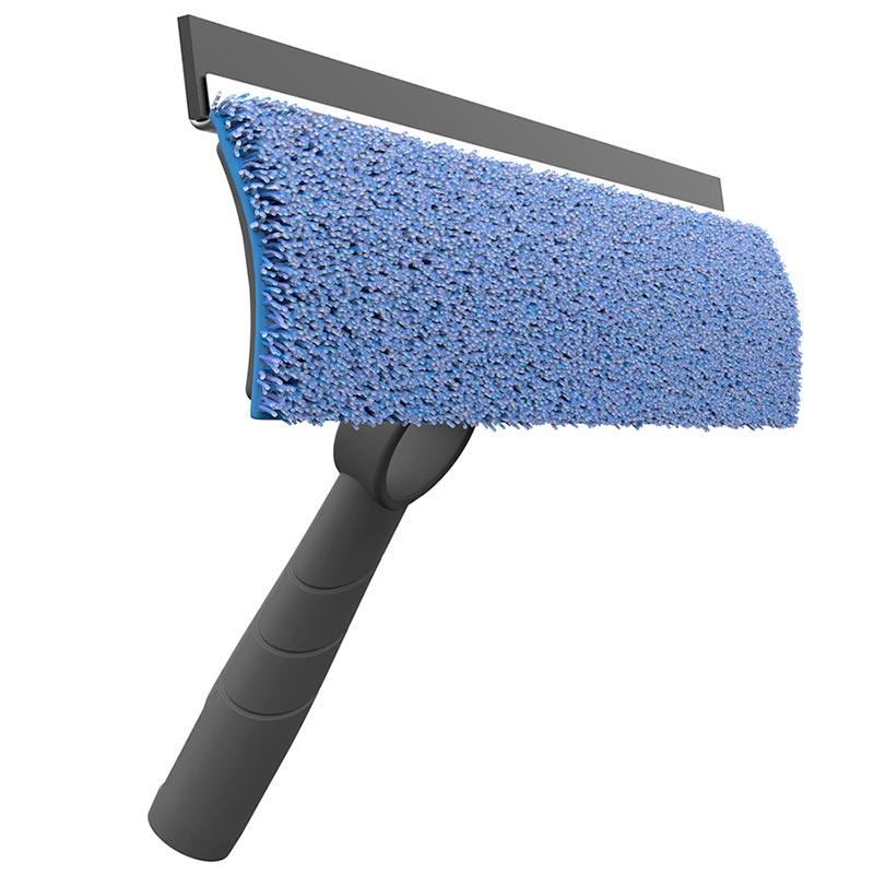Швабра Nordic Stream для мытья стекол и зеркал со сменной насадкой из микрофибры фото