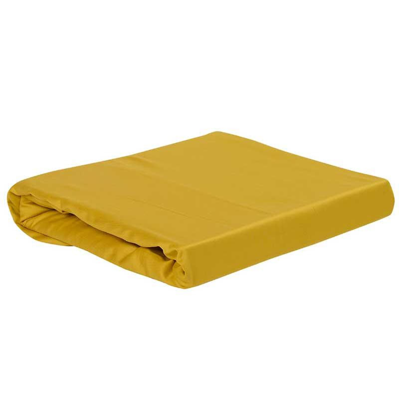 Простыня 1,5-спальная Tkano Essential 180x270см, цвет горчичный фото