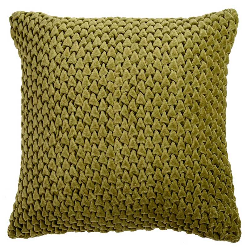 Подушка декоративная Tkano Essential 45x45см, цвет оливковый фото