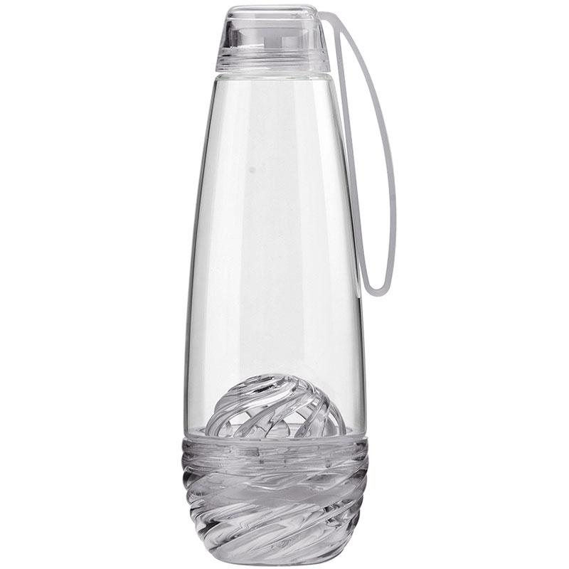 Бутылка для фруктовой воды H2O серая фото