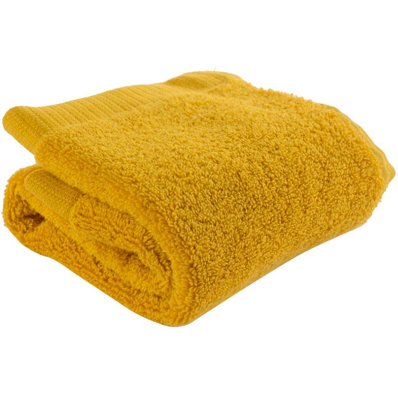 Полотенце для лица горчичного цвета Essential 30х50 фото