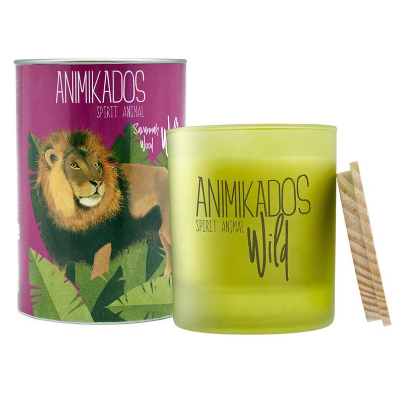 Свеча ароматическая Lion - древесный Wild 40 ч фото