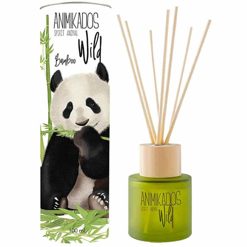 Диффузор ароматический Ambientair Panda - бамбуковый Wild 100мл фото